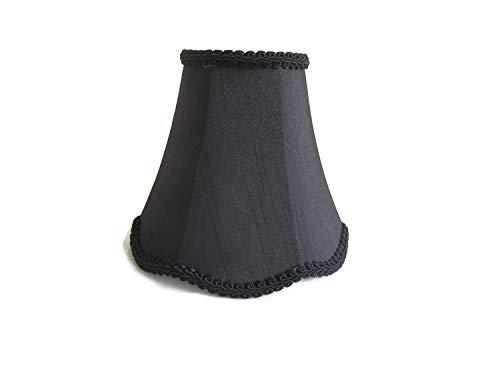 Urbanest 1100257 Scallop Chandelier Mini Shade 6-inch, Clip On, Black