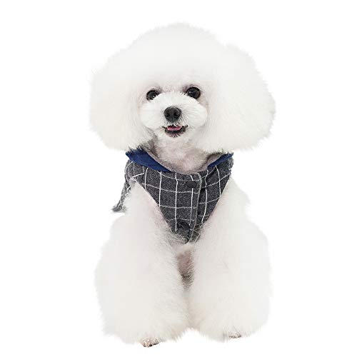 - LowProfile Pet Clothes,Dog Plaid Shirt Smile Little Star Print Hoodie Warm Winter Button Dogs Apparel
