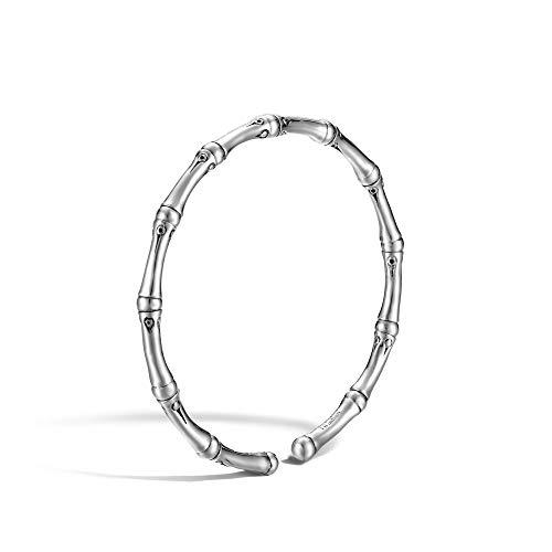 John Hardy Women's Bamboo Silver Slim Flex Bracelet, Size M