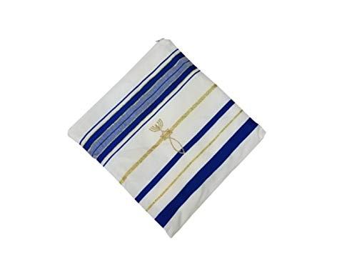Bethlehem Gifts TM New Covenant Prayer Shawl, English/Hebrew & Bag (Israel) Holy Land (Blue) - http://coolthings.us