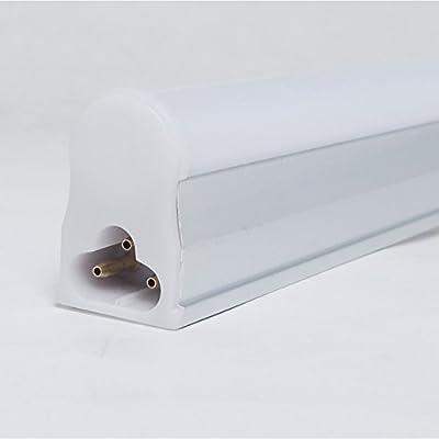 """? T5 Intergrated LED Tube Light 2ft 24"""", 9W, 5500K Kelvin (Day Light), 800 Lumens, AC 85V-260V, 48LEDs 2835 SMD, Fluorescent Replacement Light Lamp"""