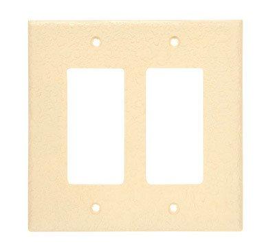 Invisiplate Double Rocker Wall Plate Orange Peel Finish 2 Gang Medium Orange Peel Ul Shrinkwrap