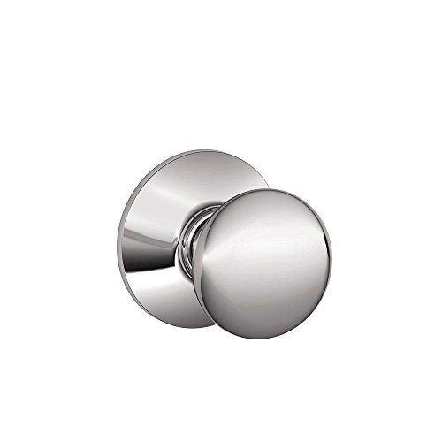 625 Polished Chrome Plymouth (Schlage F10PLY625 Plymouth Passage Knob, Bright Chrome)