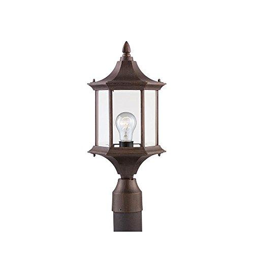 Sea Gull Lighting 82136-08 Ardsley Court Post Mount Light, Textured Rust Patina