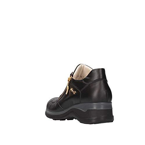 Sneakers Pm84black Paciotti Pelle Cesare Nero Donna qfxT6O67w