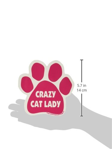 Car-Magnet-Paw-Crazy-Cat-Lady-Pink-55-x-55