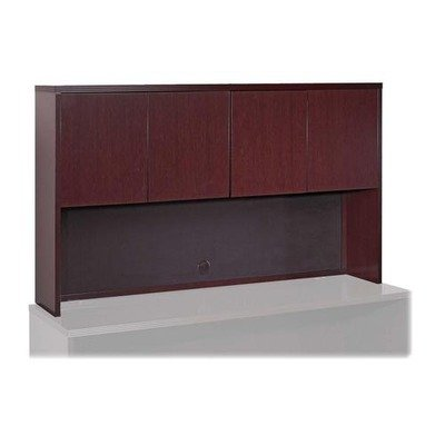 (Lorell Stack-on Storage - 66quot; Width x 14quot; Depth x 39quot; Height - Fluted Edge - Hardwood - Mahogany, Veneer)
