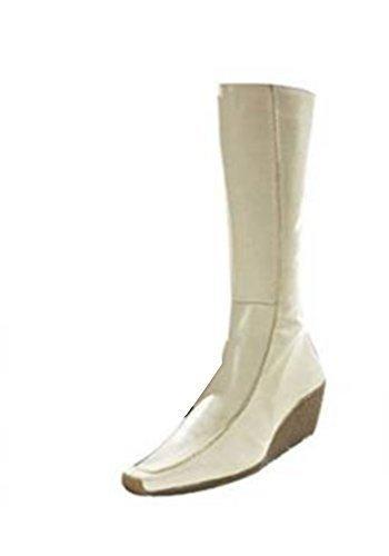 Apart Stiefel - Botas de cuero para mujer Blanc - Ecru