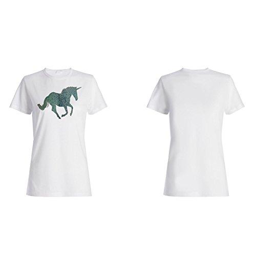 Einhorn Lustige neue Positive Gute Inspiration Damen T-shirt d136f