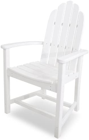 POLYWOOD ADD200WH Classic Adirondack Dining Chair