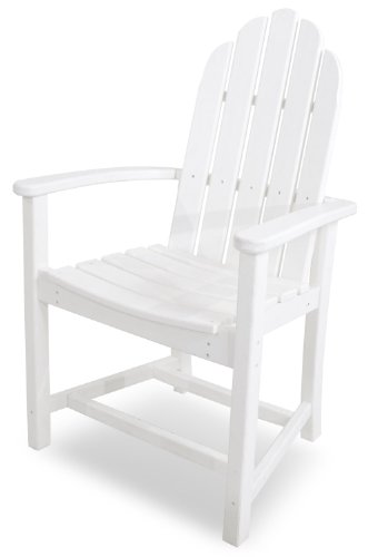 POLYWOOD ADD200WH Classic Adirondack Dining Chair, White