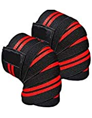 أربطة للركبة مناسبة لرياضة رفع الأثقال تعمل بمنزلة أغطية داعمة للركبة أثناء التمرُّن وممارسة رياضة القرفصاء