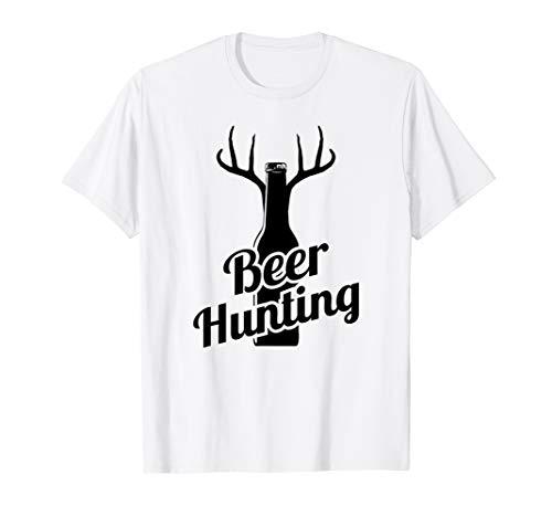 Funny Deer Hunting T-shirts - Beer Hunting Retro Funny Deer T Shirt