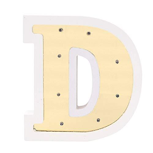 Hot Sale Alphabet LED Letter Lights, Aimik Remote Control LED Letter Lights Light Up White Plastic Letters Standing Hanging for Home Party Wedding Halloween Christmas Festival Decoration (D) ()