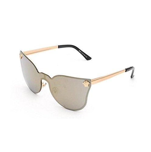 Z&YQ Occhiali da sole di personalità di tendenza riflessiva uomini donne uno occhiali lenti , c