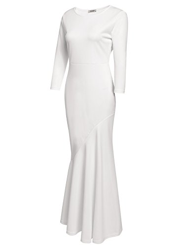 30s Femmes Acevog Robe Courte Soirée Élégante Sirène Robe Moulante Soir 2 Style Blanc