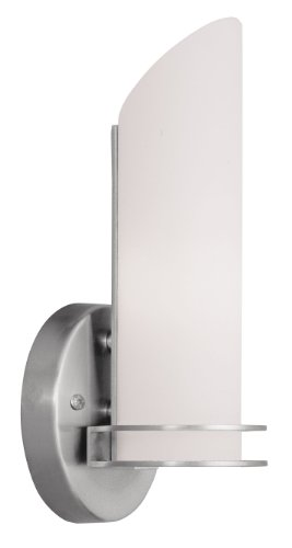 Lighting Sconce Modern Livex (Livex Lighting 1902-91 Pelham 1-Light Bath Light/Wall Sconce, Brushed Nickel)