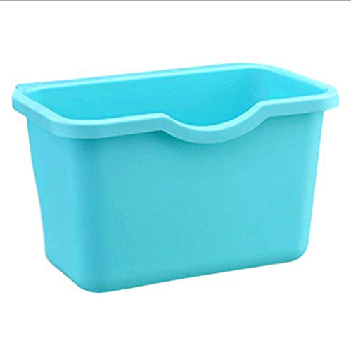 VANORIG Creative Plastic Basket Wastebaskets Multifuctional Hanging Trash Can Waste Bins Deskside Recycling Garbage Bowls Can Containers,Pack of 3 (Blue)