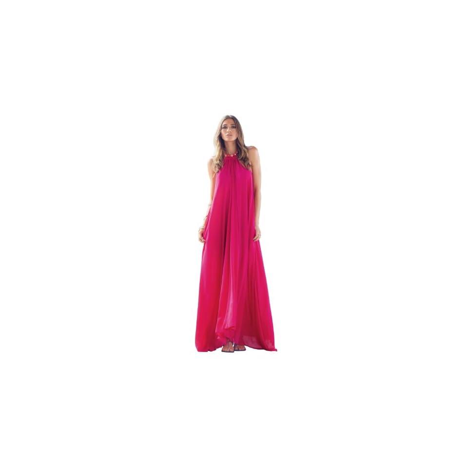 An Elan Usa Maxi Halter Tie Flowy Long Dress (RY597)
