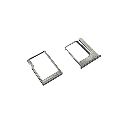 Smays SIM and TF Memory Card Tray Replacement for HTC M8 Mini (HTC One Mini2) (Grey)
