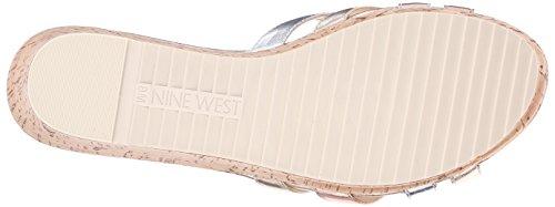 Nine West Caserta metálico sandalia de la plataforma Light Gold/Multi