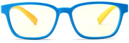 fangcheng Anti Blaulicht Brillengestell | Kinderbrillen + Brillenetui | Transparente Linse, Kinder Retro Lesebrillen für Mädchen Jungen - F18083007