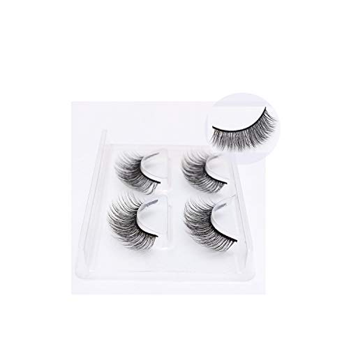 100% 2 Pairs Mink Eyelashes Extension Natural Long False Eye Lashes Hand Made Full Strip 3D Fake Eyelashes Makeup,Mbb26