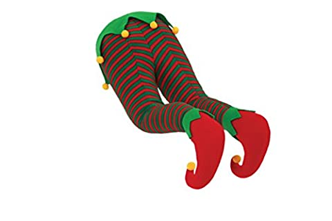 Christmas Santa, Elf, or Rudolph Hanging Legs for Fireplace or Christmas Tree (Elf) - Santa Christmas Ornament Shoes