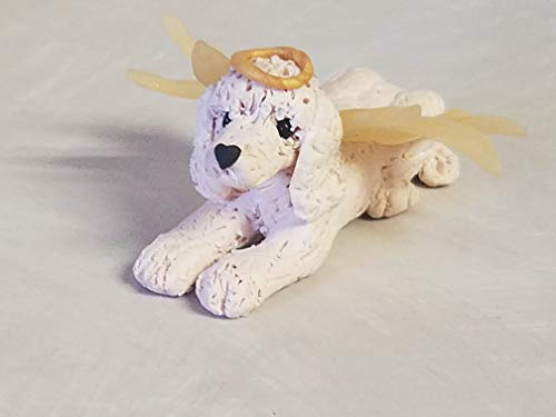 LABRADOODLE ANGEL CHRISTMAS ORNAMENT WHITE Hand Made OOAK Memorial ()
