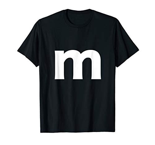 Letter E Halloween (Letter m And Alphabet Lower Case Matching Halloween Costume)