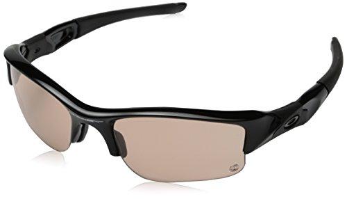 Oakley Men's Flak Jacket XLJ Rectangular Sunglasses, Polished Black, 63 - Flak Jackets Xlj Oakley