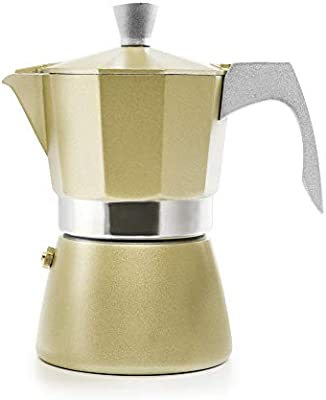 IBILI 623902 Cafetiere Espresso EVVA, Aluminio, Beige, 11 x 9 x 15 ...