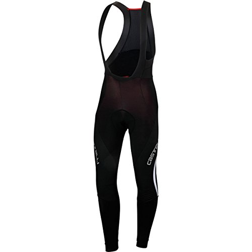 Castelli Sorpasso Wind Bib Tights - Men's Black/White, L by Castelli (Image #2)
