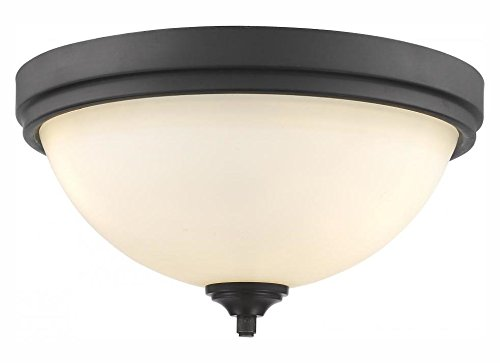 435F3-BRZ Bronze Bordeaux 3 Light Flush Mount Ceiling Fixture with Matte Opal Glass Shade