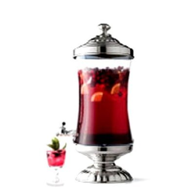 Godinger Chapel Hill Shannon Crystal Beverage, Ice Tea, Drink, Punch Dispenser 2.5 (Shannon Water Pitcher)
