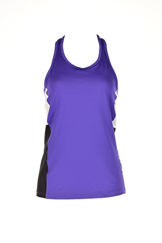 UPC 889041961385, L-RL Lauren Active Womens Colorblock Racerback Tank Top Purple XL