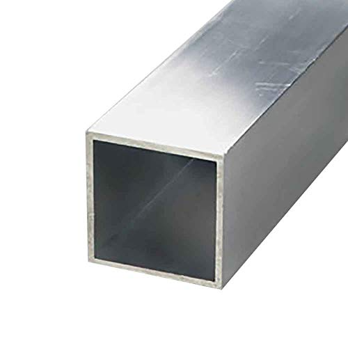Online Metal Supply 6063-T52 Aluminum Square Tube, 1-1/4
