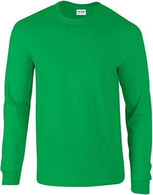Gildan Mens 6.1 oz. Ultra Cotton Long-Sleeve T-Shirt G240 -IRISH GREEN M