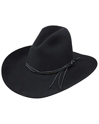 - Stetson Men's Gus Felt Hat Black 7 1/2