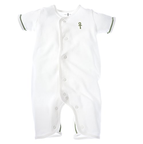little-pharo-100-extra-long-staple-egyptian-cotton-short-sleeved-romper-ivory-with-green-piping-size
