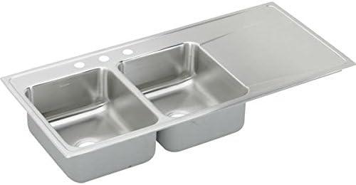 Elkay ILR4822L4 Sink, Double-Bowl, Luster Tone Satin