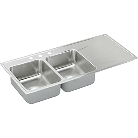Medium image of elkay ilr4822l1 1 hole gourmet lustertone stainless steel 48 inch x 22 inch