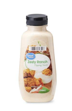 Great Value Zesty Ranch Dipping Sauce, 12 fl oz (Best Ranch Dipping Sauce)