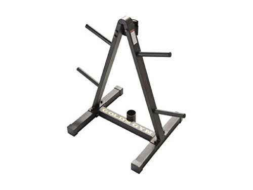 Gold's Gym Barbell Storage Rack Stores Standard or Olympic Sized Barbells
