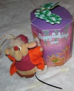 Mcdonalds Christmas Ornament.Disney 1987 Mcdonald S Cinderella Holiday Happy Meal Toy Plush Jaq The Mouse Christmas Ornament