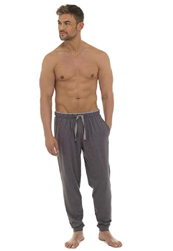 """Tom Frank Mens Cuffed Ankle Summer Lightweight Lounge Pants/Pajama Bottoms (Large = 35-38"""" Waist, Charcoal)"""