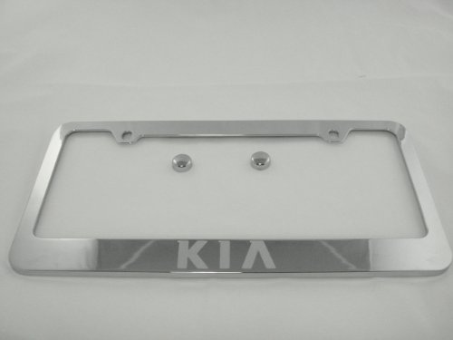 Kia Chrome License Plate Frame with (Kia Frame)