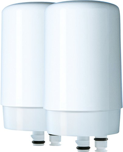Brita On Tap Faucet Water Filter System Replacement Filters, White, 2 Count