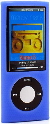 HD Accessory Anti-Slip Silicone Skin for 5th Generation iPod Nano 5G - Blue
