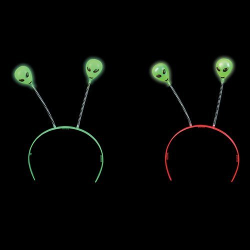 Rhode Island Novelty Glow-in-the-Dark Alien Head Boppers (1 dz) -